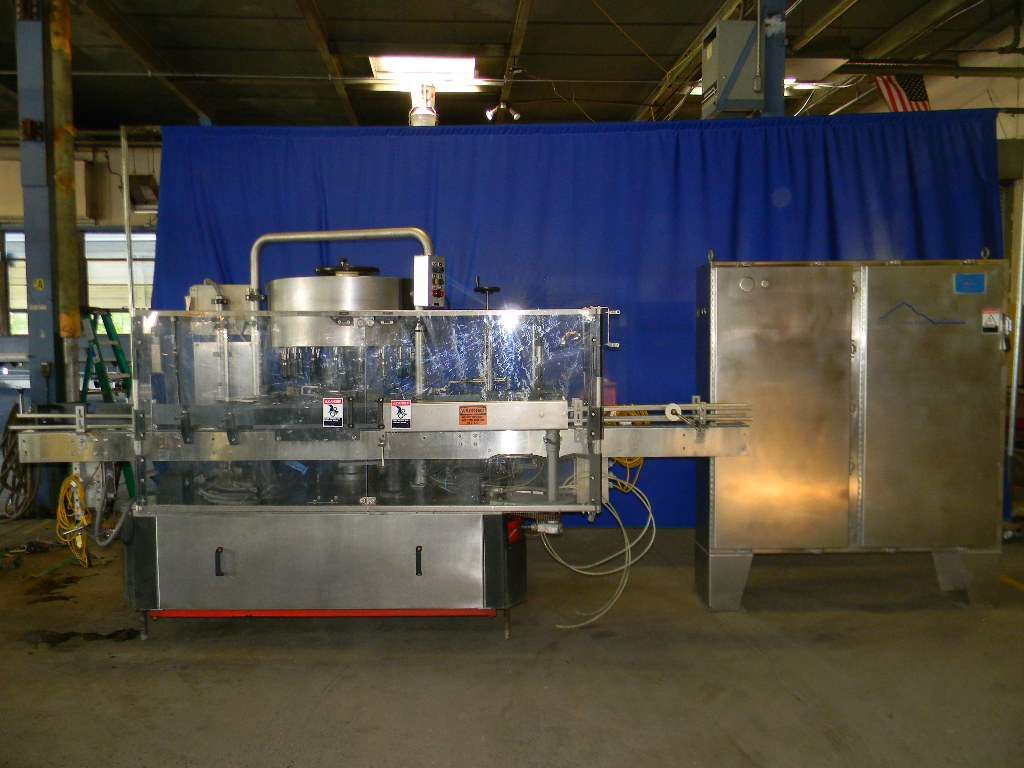 Krones 18 Head Rotary Hot Melt Cut and Stack Labeler