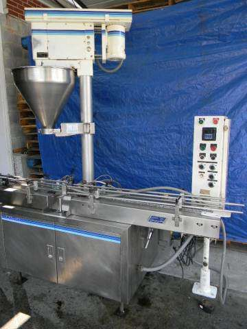 Mateer Neotron Auger Filler with conveyor