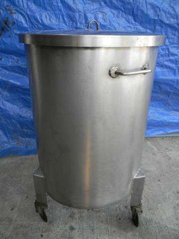 Stainless Steel Rolling Tank with lid