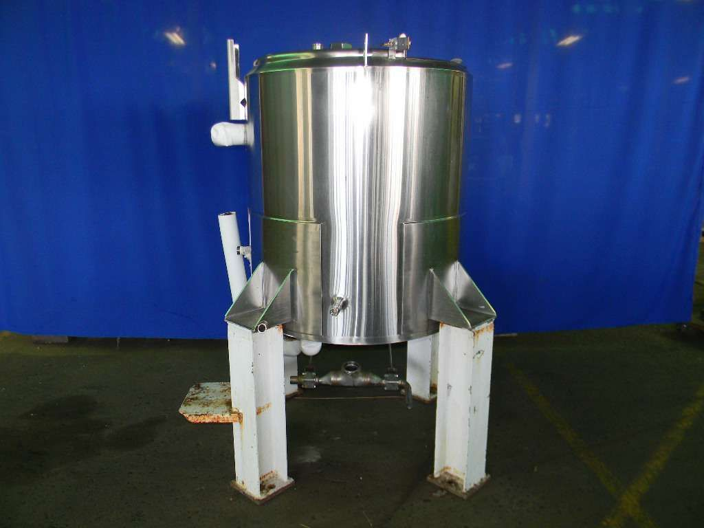 Verticall Jacketed Stainless Steel Tank 150 Gallons