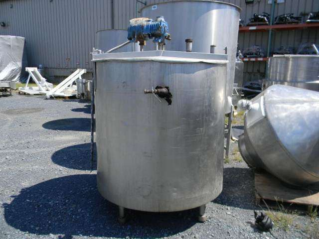 Jacketed Vertical Stainless Steel Mix Blend Tank 300 Gallon