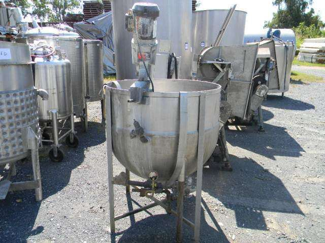 Hubbert Jacketed Stainless Steel Kettle 100 Gallon