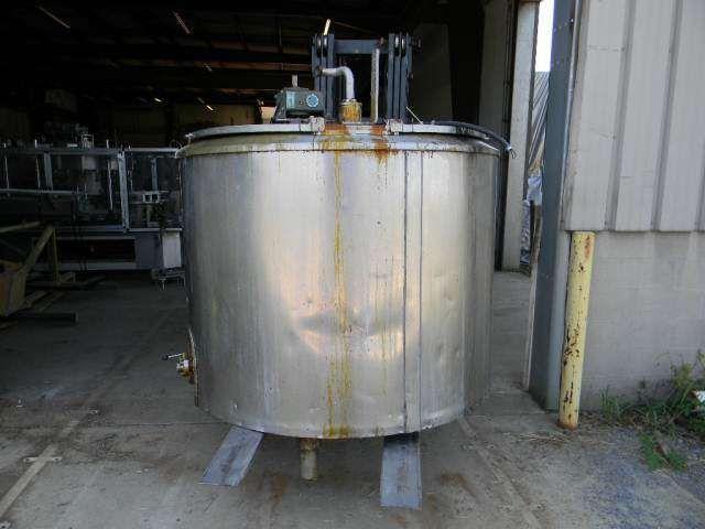 Vertical Jacketd Stainless Steel Tank 400 Gallon