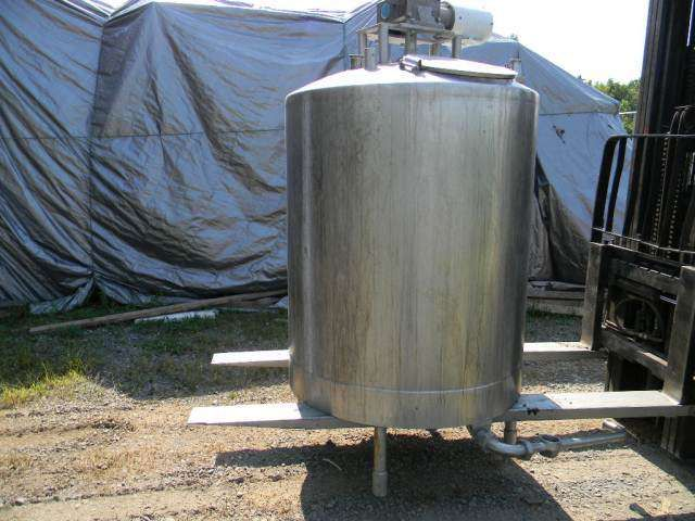 Single Wall Vettical  Agitated Stainless Steel Tank 350 Gallon