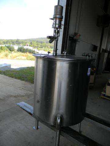 Single Wall Vertical Stainless Steel  Tank 100 Gallon