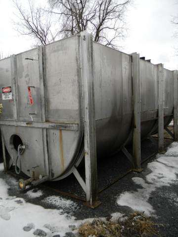 Perry Horizontal Single Wall Stainless Steel Tank 6400 Gallon