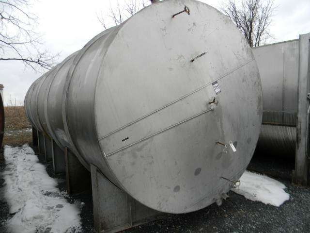 Perry Horizontal Single Wall Stainless Steel Tank 9000 Gallon