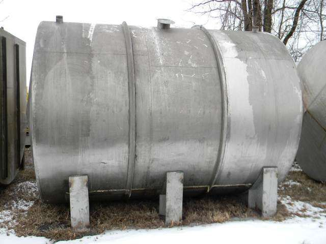 Perry Horizontal Single Wall Stainless Steel Tank 4050 Gallon