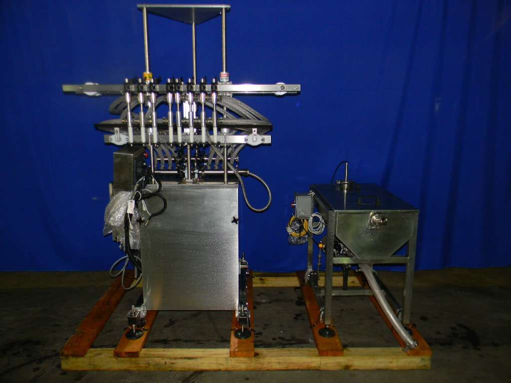 Inline Filling Systems 8 Head Inline Pressure Overflow Filler  NEW - Never used