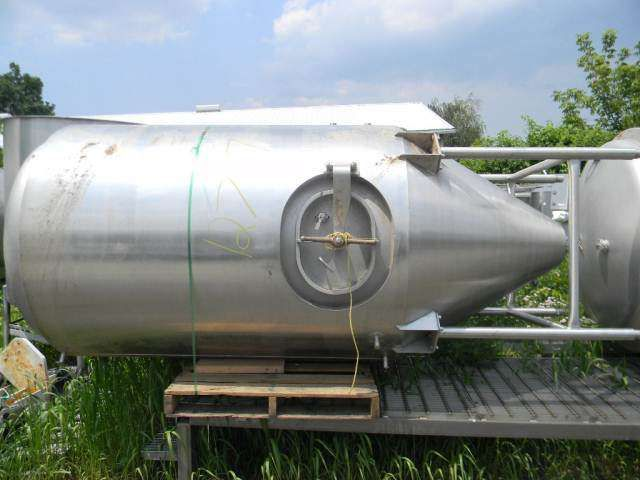 Jacketed Vertical Stainless Steel Tank 1000 Gallon