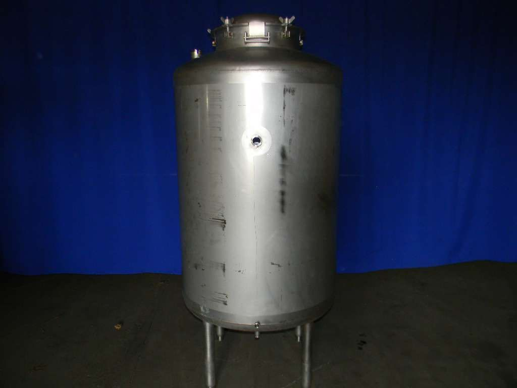 Vertical Single Wall Stainless Steel Pressure Tank 250 Gallon