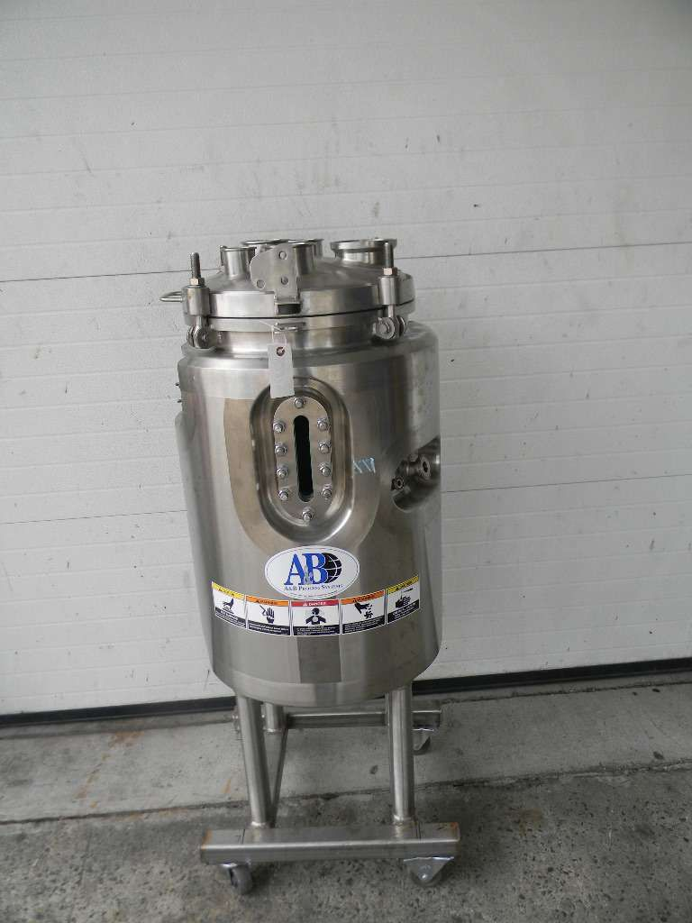 Jaccketed Vetical Stainless Steel Pressure Tank or Reactor 20 Gallon