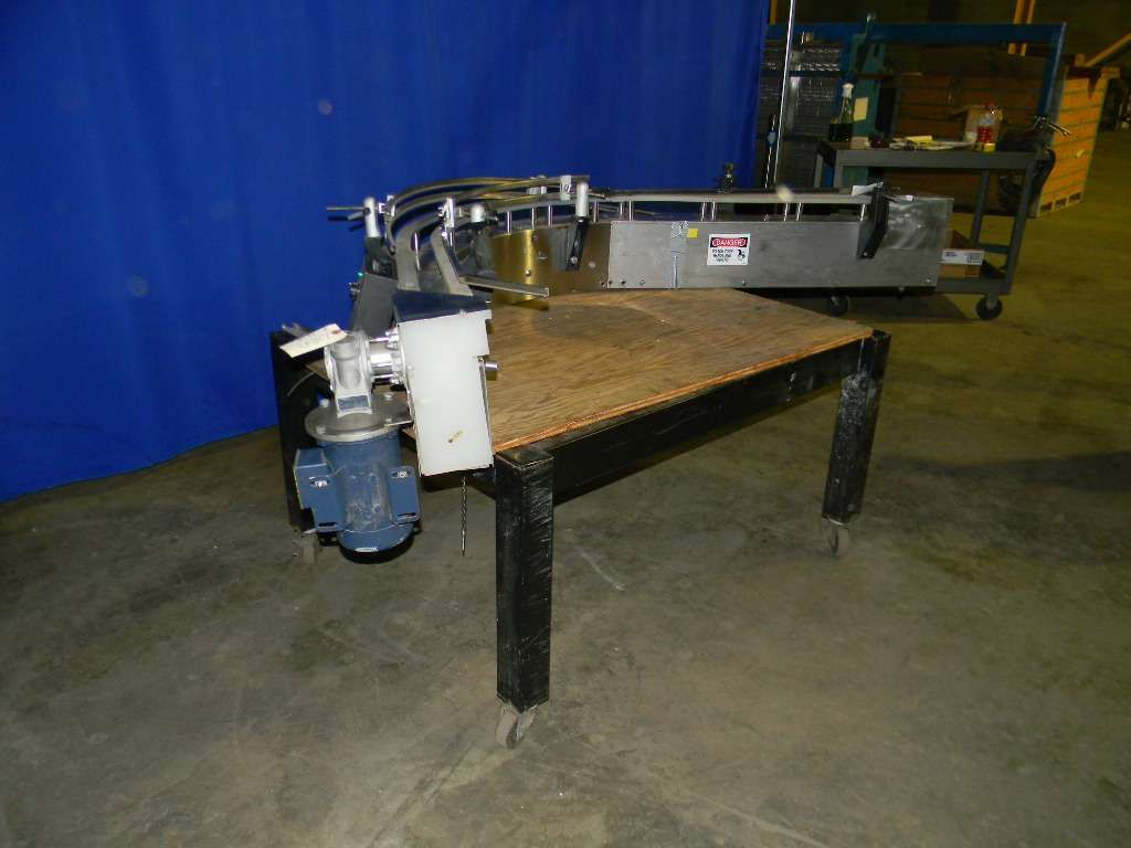 Stainless Steel Tabletop Conveyor with 90 Degree Section