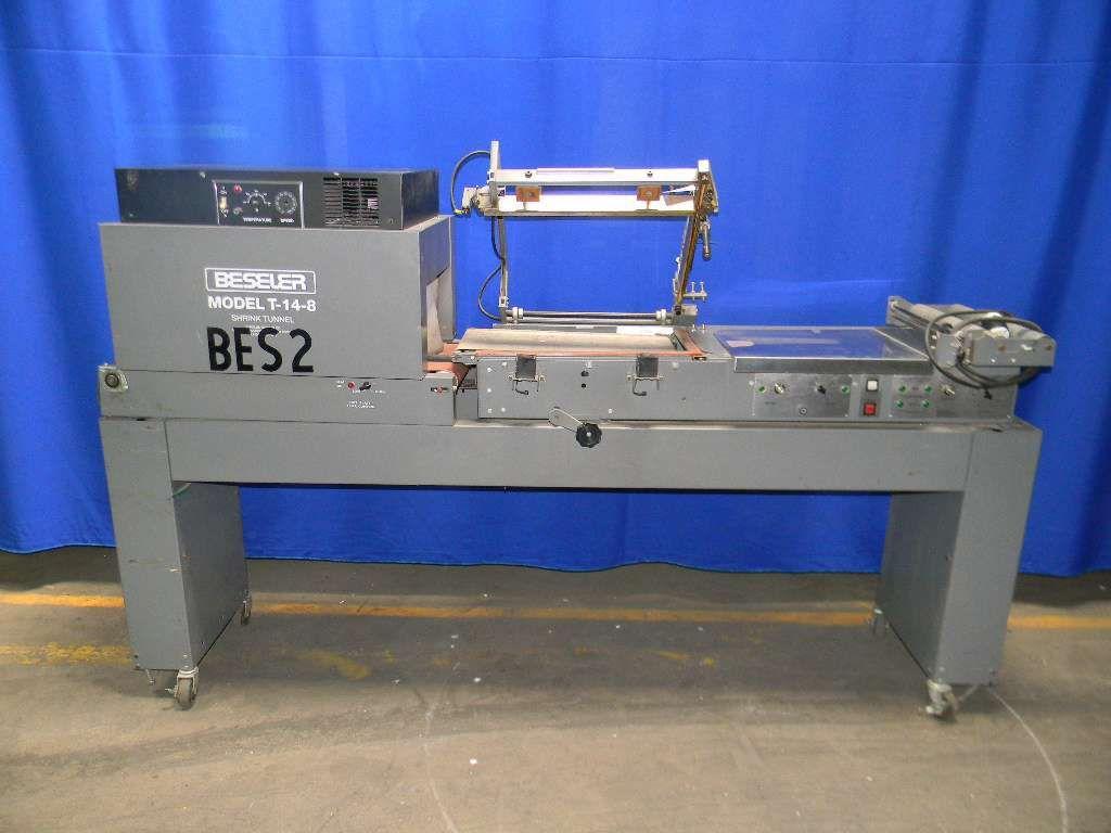 Bessler L-Bar Sealer with Integrated Tunnel  Sealer -20' x 14' seal bar - Magnetic clamping system - 115V - 20 amps  Tunnel: