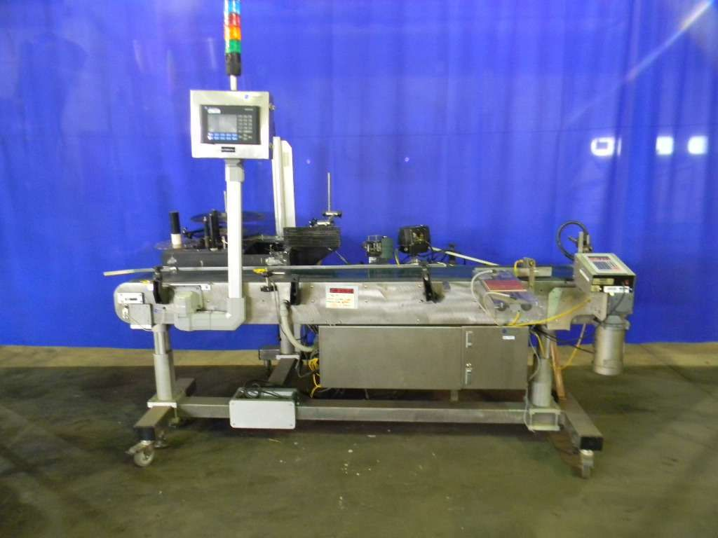 Superior Automatic Print and Apply Blow on Labeler