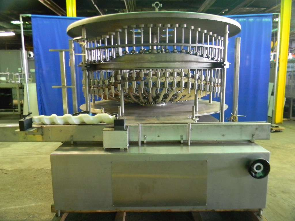 US Bottlers 72 Valve Rotary Pressure Overflow Filler
