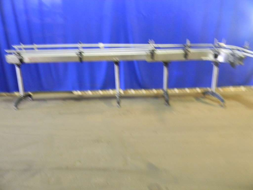 Stainless Steel Tabletop Conveyor with 90 degree scetion
