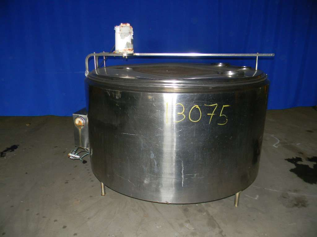 Vertical Single Wall Agitated Stainless Steel Tank