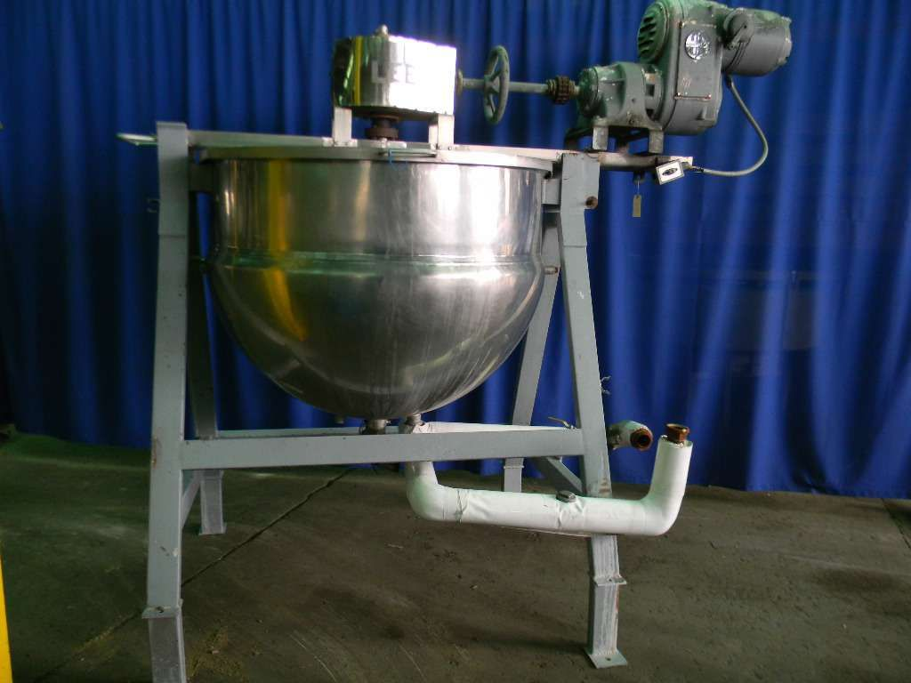 Lee Stainless Steel Jacketed Scrape Agitated Kettle 350 Gallon