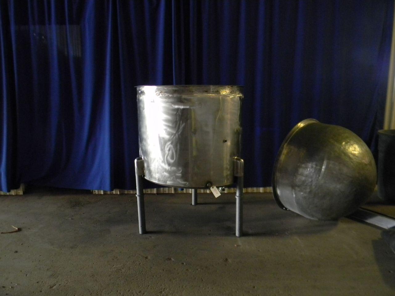 185 Gallon Single Wall Stainless Steel Tank