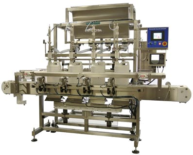 Used Inline Net Weigh Liquid Filler